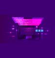 web development coding and programming futuristic vector image