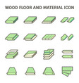 wood floor and material icon set design on white vector image