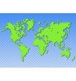Creative world map vector image