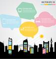 Network communication city vector image