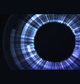 blue circle digital eye abstract background vector image