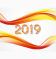 2019 abstract of new year on vector image vector image