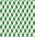 Abstract isometric green cube pattern background vector image vector image