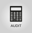 audit icon audit symbol flat design stock vector image