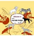 Background with savanna animal vector image vector image