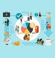 bank service isometric infographics vector image