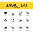 Basic set of cart icons vector image vector image