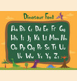 beautiful cartoon font - dinosaur vector image