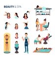 Beauty Salon Spa Set vector image vector image