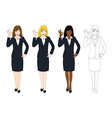 Business Woman Showing OK Hand Sign vector image vector image