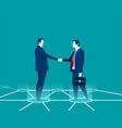 businessman shaking hands concept business vector image