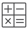 calculator line icon web and mobile calculate vector image vector image