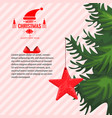 christmas greeting card with or story template vector image vector image