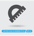 circle ruler icon simple sign for web site and vector image