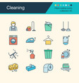 cleaning icons filled outline design collection vector image vector image