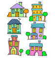 collection of house set doodles vector image vector image