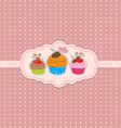 cupcake background vector image