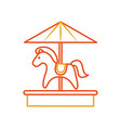 cute carrousel horse isolated icon vector image vector image