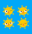 cute sun set vector image