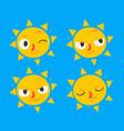 cute sun set vector image vector image