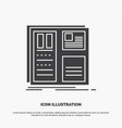 design grid interface layout ui icon glyph gray vector image vector image