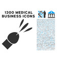 ejaculation icon with 1300 medical business icons vector image vector image