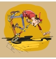 Falling from a scooter vector image vector image