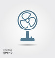 fan icon in flat style isolated on grey background vector image vector image