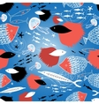 fish pattern vector image vector image