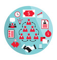 flat design business elements partnership money vector image