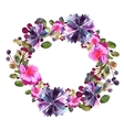 Flower frame Colorful floral collection with vector image vector image