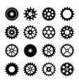 Gear wheel icons set 2 vector image vector image