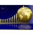 golden globe with chart vector image vector image