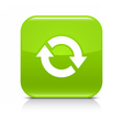 Green arrow repeat reload refresh rotation icon vector image vector image