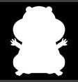 hamster silhouette white color icon vector image