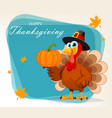 happy thanksgiving thanksgiving turkey vector image vector image