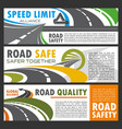 highway and road building or repairing safety vector image
