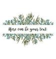 horizontal botanical design banner or wedding vector image vector image