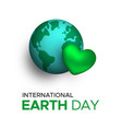 international earth day card for planet love vector image