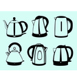 Kettle set vector image vector image