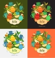 Label design for tea vector image vector image