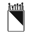 matchbox icon simple style vector image