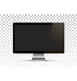 mock up realistic computer monitor with vector image vector image