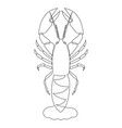 one line crayfish design silhouette logo design vector image