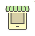 online shop icon design for shopping graphic vector image