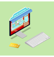 Online Shopping Isometric Computer Electronic vector image