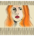 orange haired girl vector image