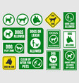 pet friendly icons dog allowed sign vector image vector image