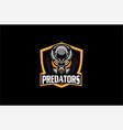 predators logo sports vector image vector image