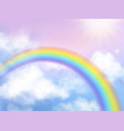 rainbow sky fantasy heaven landscape rainbow in vector image